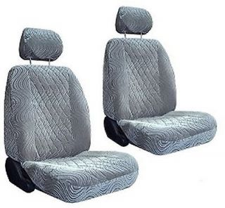 New Silver Grey Diamond Swirl Low Back Bucket Car Truck SUV Seat