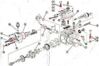 total overhaul fuel pump kit pajero delica 2 8 2