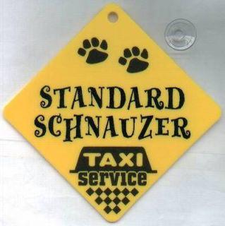 dog sign taxi service standard schnauzer  7