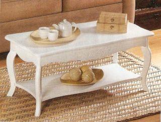 shabby cottage chic white coffee table nib