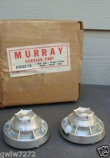 MURRAY TRICYCLE HUB CAPS SET OF 2 NOS 1960s Velocipide Ped​al Car 2
