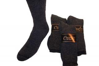 6pr Mens WARM GEAR Merino Wool Crew Boot Socks BLACK 9 11