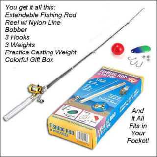 Deluxe Portable Fishing Rod Pen Kit Fits In Your Pocket Take It