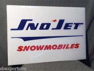 Snowmobile vintage sno jet snowmobiles sled dealer poster sign