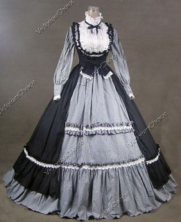 Victorian Gothic Lolita Dress Ball Gown Prom Steampunk Punk D190 M