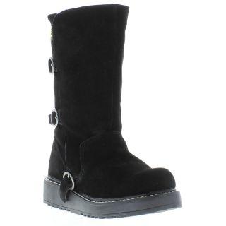 Rocket Dog Boots Genuine Biker SD Womens Black Boot Sizes UK 4   8