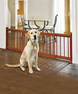 EXPANDABLE WOODEN PET DOG GATE DOOR KITCHEN FENCE FOR DOORWAYS