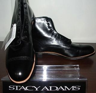 NEW ARRIVAL Stacy Adams Mens Madison Black Dress Boot Boots Shoe