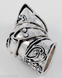 Battle Ready Medieval Knight Armor Sexy Ring Gold or Silver Vintage