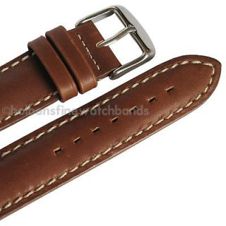 Chrono Waterproof Leather Hadley Roma Watch Band Strap fits TAG Heuer