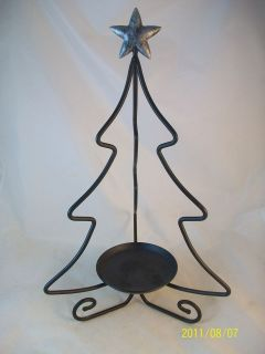 longaberger wrought iron christmas tree candle holder