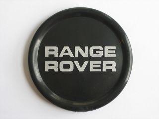 Range Rover Classic Genuine Black Wheel Badge Center Hub Cap NEW