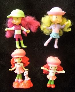 McDonalds Strawberry Shortcake Raspberry Torte Angel Cake 4 Doll Lot