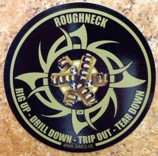 Oilfield Trash Oil well gas pump roughneck sticker decal gift drill