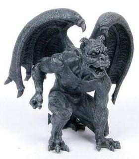 Short Horned Gargoyle Statue Figurine Home Decor Gothic 6.5 Height