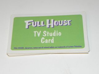 full house game parts full set 10 tv studio cards