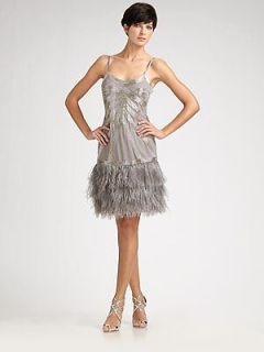 new sue wong feather pagent evening dress 4 nwt $ 526