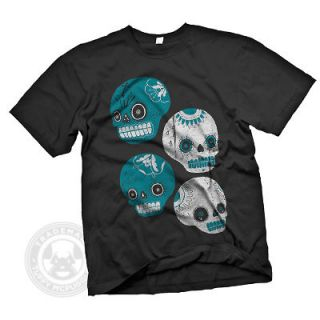 SUGAR SKULLS Mexican Day of the Dead Dia De Los Muertos T Shirt XL