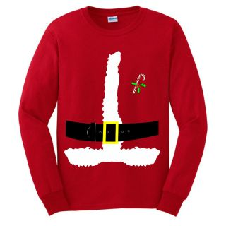 Santa Claus Red Suit LONG SLEEVE T Shirt Mrs. Christmas Costume
