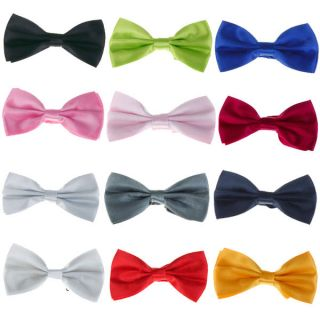 SOLID TUXEDO BOWTIE BOW TIE GROOM WEDDING SUIT FORMAL PROM NECKTIE