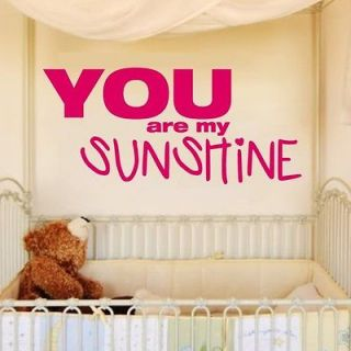 you are my sunshine wall decal in Decals, Stickers & Vinyl Art