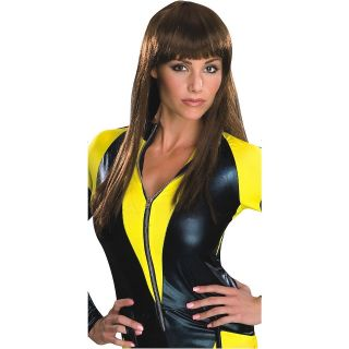 Spectre Dlx Costume Wig Watchmen Womens Superhero Long Brunette Brown