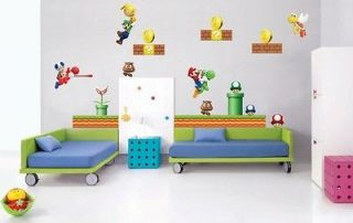 SUPER MARIO Bros Decal REMOVABLE Video Game WALL STICKER Stickups