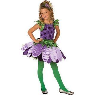 Purple Daisy Flower Princess Costume Girl Child Kids Dress Up
