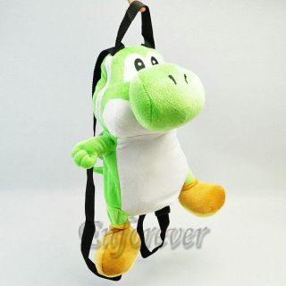 14 Super Mario Bros YOSHI Soft Plush Bag Backpack^MT89