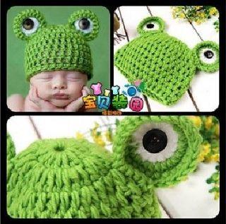 Super Lovely Unisex Frog Crochet Knit Cotton Baby Beanie Hat Cute