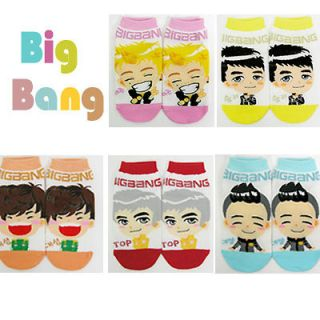 5pairs bigbang korean super star character socks k pop
