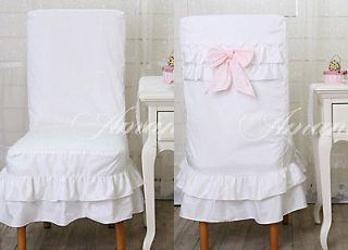 White Lovely Slipcovers for Chairs Dining Room Chair Slip Cover / New