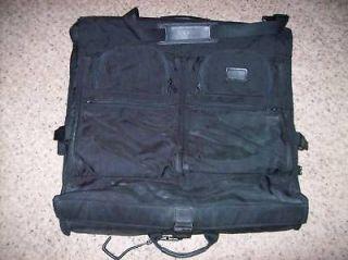 Vintage TUMI Ballistic Nylon Black GARMENT Cloth Luggage travel Bag