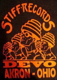 devo stiff records t shirt ohio s m l xl xxl