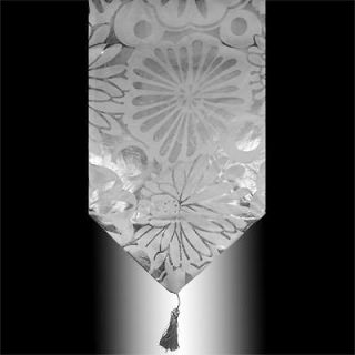new white silver velvet decorative table runner cloth from china