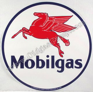 MOBILGAS GASOLINE 2 VINYL MOBIL GAS & OIL PUMP DECAL DC 125D