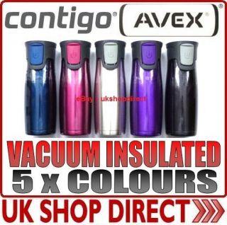 2PK CONTIGO AVEX VACUUM INSULATED AUTOSEAL STAINLESS STEEL HOT/COLD