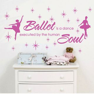 BALLET DANCE HUMAN SOUL *** Stars Vinyl Wall Decor Mural Quote