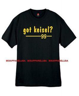 Mens Got Keisel ? Steelers T Shirt Jersey Brett Sizes Small thru 2xl