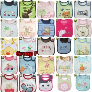 Cotton 3 layers Animal Cartoon Baby Cute Bibs Gift Dad Mum words funny