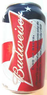 patriotic 2011 stars stripes beer can empty 12 oz red white blue new