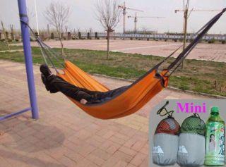 Portable Nylon Hammock Hang Sleeping Bed Outdoor Camping Travelling