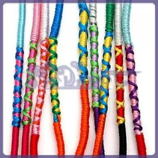 handmade woven colorful thread friendship bracelets from china time