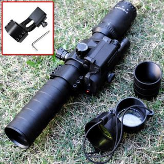 9x40 EL green illumination gun rifle scope with red laser dot sight
