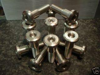 suzuki hayabusa 2000 07 stainless steel disc bolt set from