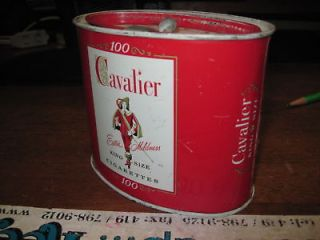 cavalier king 100 tobacco TIN OLD VINTAGE ANTIQUE CAN CANISTER