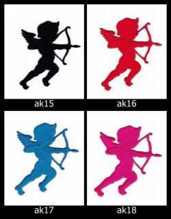 Cupid Angel Iron on Patches embroidered sew cute for Kids Cloth Baby