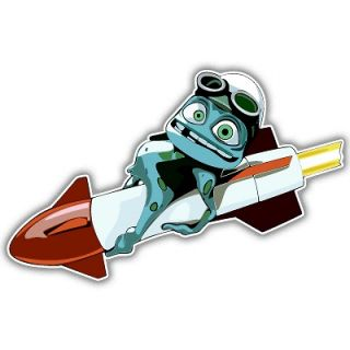 crazy frog car bumper sticker decal 6 x 3 time