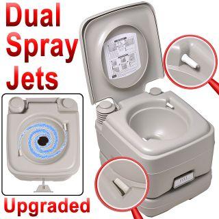 Portable 2.8 Gallon Toilet 2 Spray Flush Camping Travel Indoor/Outdoor