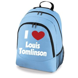 Love Louis Tomlinson One Direction Backpack   Girls School Bag   New
